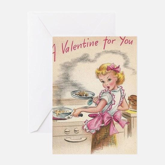 Cute Housewife Greeting Card