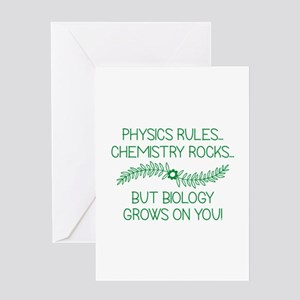 Biology Grows On You Greeting Card