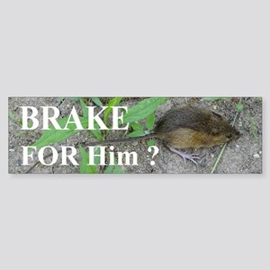 Meadow Jumping Mouse Bumper Sticker