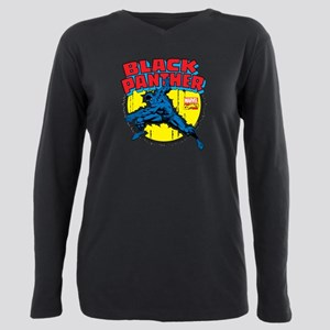 Black Panther Comic Plus Size Long Sleeve Tee