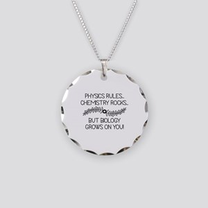 Biology Grows On You Necklace Circle Charm