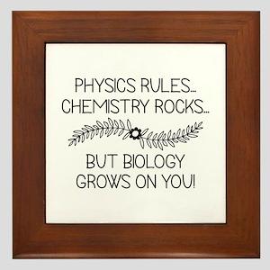 Biology Grows On You Framed Tile