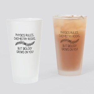 Biology Grows On You Drinking Glass