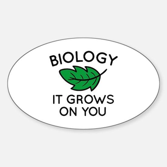Biology Sticker (Oval)