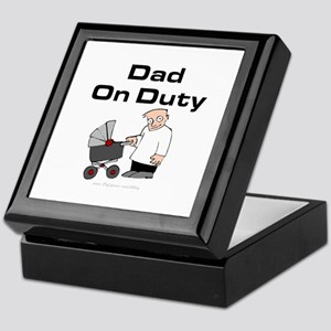 Dad On Duty Keepsake Box