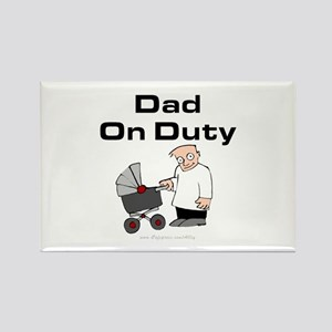 Dad On Duty Rectangle Magnet