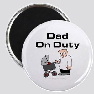 Dad On Duty Magnet