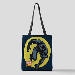 Black Panther Crawl Polyester Tote Bag