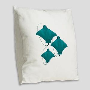 BY THREE Burlap Throw Pillow