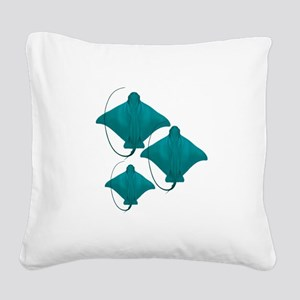 BY THREE Square Canvas Pillow