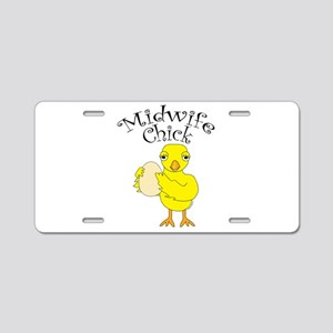 Midwife Chick Text Aluminum License Plate