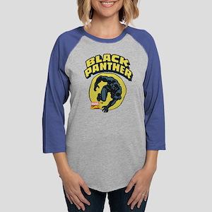 Black Panther Comic Logo Womens Baseball Tee