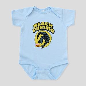 Black Panther Comic Logo Baby Light Bodysuit