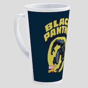 Black Panther Comic Logo 17 oz Latte Mug