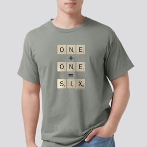 Scrabble One Plus One Si Mens Comfort Colors Shirt