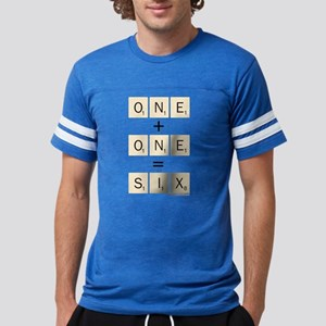 Scrabble One Plus One Six Mens Football Shirt