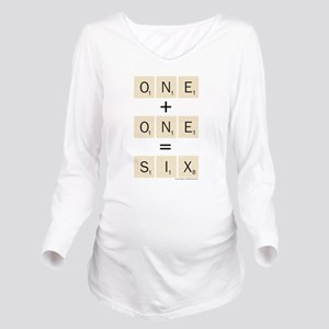Scrabble One Plus On Long Sleeve Maternity T-Shirt