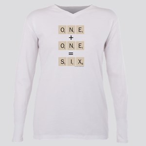 Scrabble One Plus One Si Plus Size Long Sleeve Tee