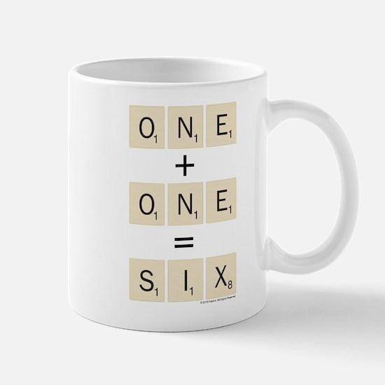 Scrabble One Plus One Six Mug