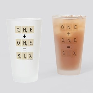 Scrabble One Plus One Six Drinking Glass