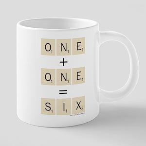 Scrabble One Plus One Six 20 oz Ceramic Mega Mug