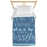 With God Twin Duvet Cover