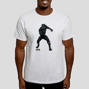 Black Panther Stance Light T-Shirt