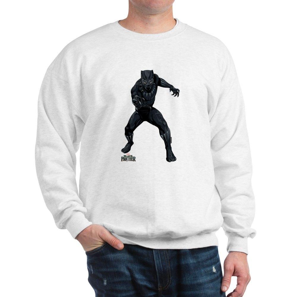 cd44d8b7 CAFEPRESS BLACK PANTHER Stance Classic Crew Neck Sweatshirt (205152548)