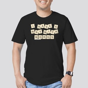 Scrabble Way With Word Men's Fitted T-Shirt (dark)