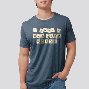 Scrabble Way With Words Mens Tri-blend T-Shirt