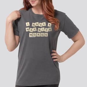 Scrabble Way With Word Womens Comfort Colors Shirt