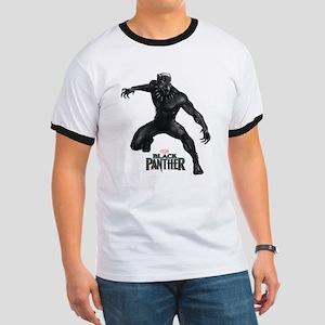 Black Panther Pose Ringer T