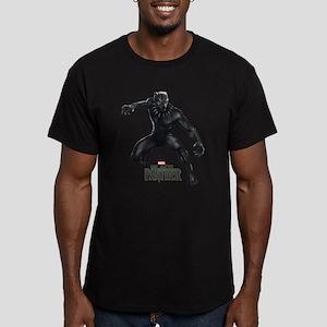 Black Panther Pose Men's Fitted T-Shirt (dark)