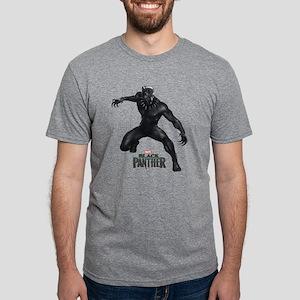 Black Panther Pose Mens Tri-blend T-Shirt