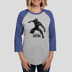 Black Panther Pose Womens Baseball Tee