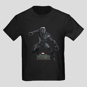 Black Panther Pose Kids Dark T-Shirt