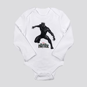Black Panther Pose Long Sleeve Infant Bodysuit