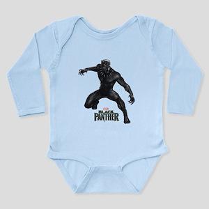 Black Panther Pose Long Sleeve Infant Bodysuit