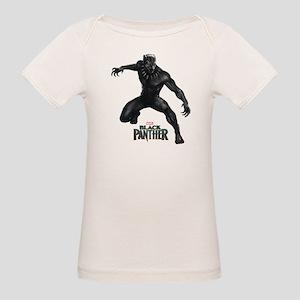 Black Panther Pose Organic Baby T-Shirt