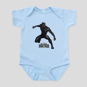 Black Panther Pose Baby Light Bodysuit