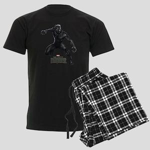 Black Panther Pose Men's Dark Pajamas