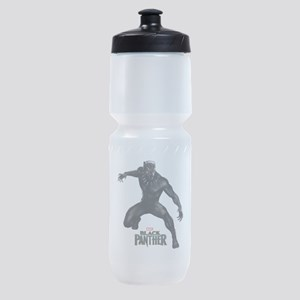 Black Panther Pose Sports Bottle
