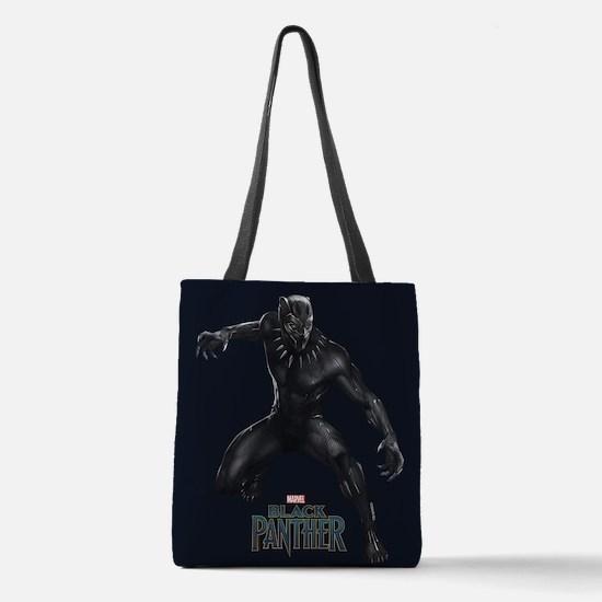 Black Panther Pose Polyester Tote Bag