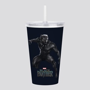 Black Panther Pose Acrylic Double-wall Tumbler
