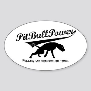 Pit Bull Power Oval Sticker