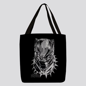 Black Panther Mask Polyester Tote Bag