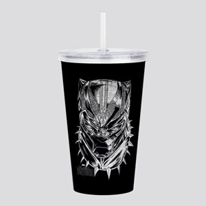 Black Panther Mask Acrylic Double-wall Tumbler