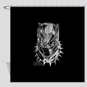 Black Panther Mask Shower Curtain