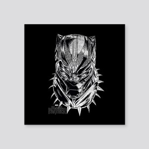 "Black Panther Mask Square Sticker 3"" x 3"""