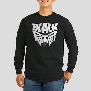 Black Panther Logo Long Sleeve Dark T-Shirt